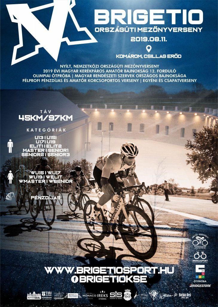 V. Brigetio Országúti mezőnyvereny plakát