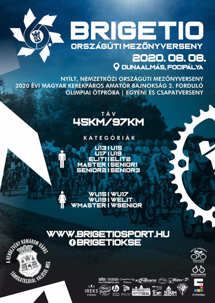 VI. Brigetio Országúti Mezőnyverseny plakát